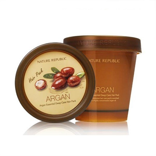 Маска для волос с аргановым маслом Nature republic Argan Essential Deep care hair pack, 200 гр в интернет-магазине Etomarta.com